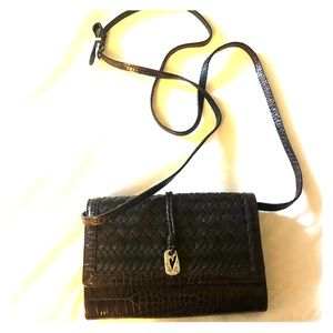 Brighton Brown Leather Crossbody